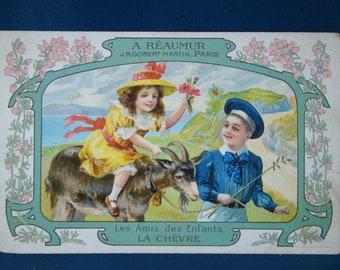 "advertising store A REAUMUR Paris ""children's friends, goat"""