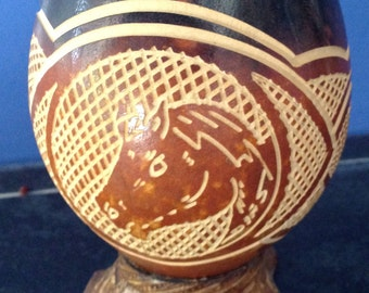 Wooden vase for lovers of horses, wood bowl, horses lover