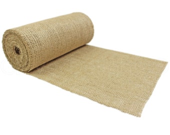 """10 Yards - 9"""" Burlap Roll - Unfinished Edges - Eco-Friendly Premium Natural Jute Burlap Fabric - 30 Feet - For Table Runners & Rustic Decor"""