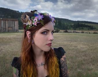 Maenad Small Ram Horn Headdress