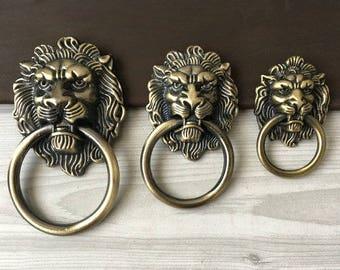 Lion door knocker | Etsy
