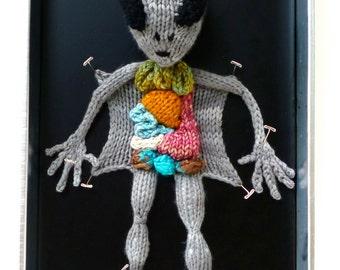 Knitted Alien Autopsy PDF Pattern
