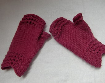 Mor Fingerless Gloves PDF Knitting Pattern