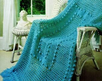 Afghan Crochet Pattern, Mohair & Wool Crochet Afghan Pattern, Bobble Crochet Afghan, Gift Idea, INSTANT Download Pattern PDF (1020)