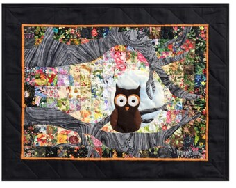 """Ollie Owl  - Whims Watercolor Quilt Kit - precut 2"""" squares - perfect for the beginner or experienced! Quilt Grid included!!"""