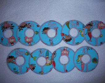 mermaid girls closet divider set