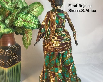 Farai, Sherika Queen Statue, Welcome  to Wakanda Collection, size 4, 13 inches