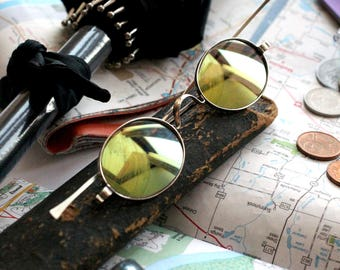 Mens Sunglasses , Antique Sunglasses , Oval Sunglasses  , Dark Sunglasses , Silver Sunglasses , Retro Sunglasses , Travel Gifts , Travel