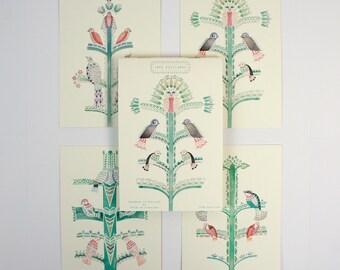 Trees Postcard Book