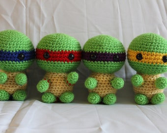 Chibi Teenage Mutant Ninja Turtles Crochet Plushie Amigurumi