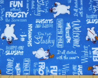 Fat Quarter Adorable Frosty the Snowman Fabric