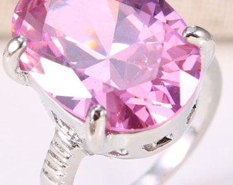 Natural 6CT Pink Sapphire Ring