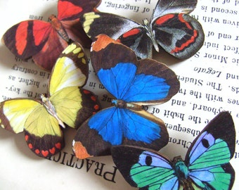 Wood, Butterfly brooch, wooden butterfly, choose style,brooch, mix colour, butterfly, woodland,  by NewellsJewels on etsy