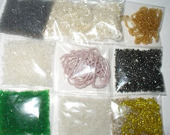 Antique Seed Bead Assortment - Over 45 Grams