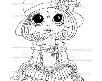 INSTANT DOWNLOAD Digital Digi Stamps Big Eye Big Head Dolls Digi  IMG771 By Sherri Baldy