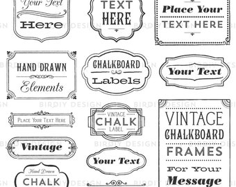 Rustic Frames Clipart - Rustic Boho Clipart - Vintage Frames Clipart - Boho Wedding Clipart - Clip art - EPS and PNG - Instant Download