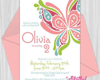 Printable Butterfly Party Invitation