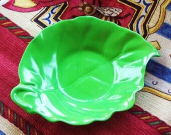 SALE ! Vintage Prototype Rare Apple Green Crown Devon  Porcelain Dish a1 first off production line mint condition