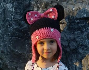 Crochet Disney Minnie Mouse Hat