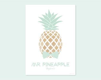 A4 print MR. PINEAPPLE Benjamin