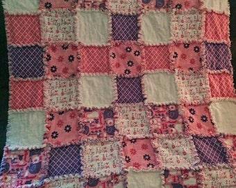 Custom Rag Quilt - Baby Blanket - Crib Quilt - Crib Bedding - Nursery Bedding - Baby Shower Gift - Patchwork Quilt - Handmade Quilt - Throw