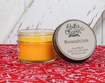 Moonshine Scent Candle 4 oz Mini Mason Jar Rustic Charm
