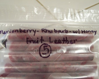 Marionberry Rhubarb Fruit Leather with Honey-SIMPLY THE BEST-