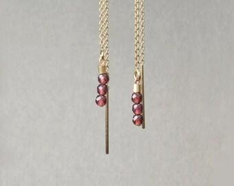 Garnet Earrings * and 14-Karat Gold *.