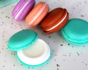 Macaron Lip Balm- Best Stocking Stuffers- Gift Ideas for Sister - Lip Balm Favors- Party Favor Lip Balm- Lip Balm Gift Set- Natural Lip Balm