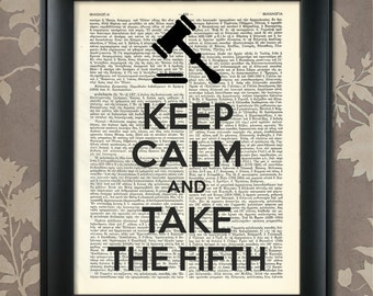 Take the 5th, Attorney Print, Lawyer Poster, Lawyer Humor, Lawyer art, Lawyer wall art, Lawyer Gift, Lawyer Print, Attorney Gift