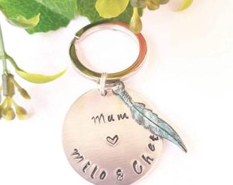 Custom made KEYRING. Gift for mum, gift for loved one