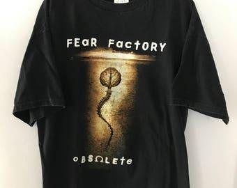 Vintage Fear Factory Obsolete Tour T-Shirt 1998 XL