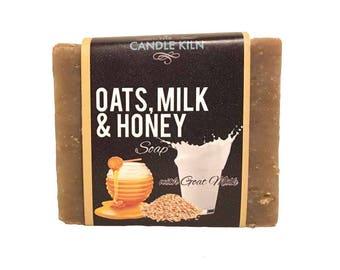 Oats, Milk & Honey PREMIUM Cold Process Soap with GOAT MILK
