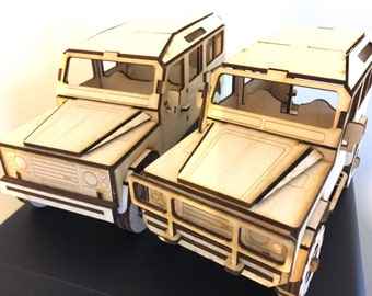 Land Rover Defender 90 Plus Country 110 3D Puzzle Birch Wood Birthday Gift