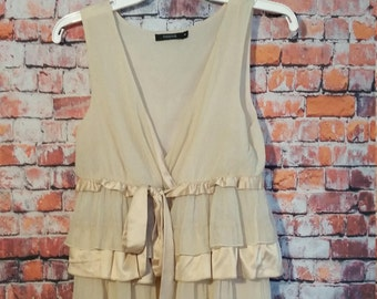 90's Tami Tank Top Blouse , Beige ,Size M