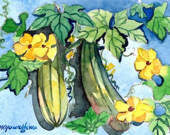 ACEO Limited Edition 1/25 - Backyard vegetables