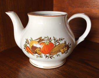 Vintage Vegetable Detailed Tea Pot
