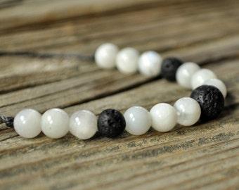 Moonstone Bracelet, Diffuser Bracelet, Beaded Diffuser, Essential Oils, Oil Diffuser, Yoga Bracelet, Meditation Bracelet, Healing Bracelet