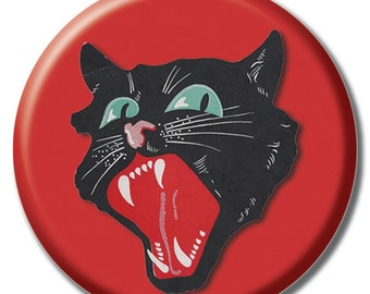 Happy Halloween Cat 1.75 inch pinback button