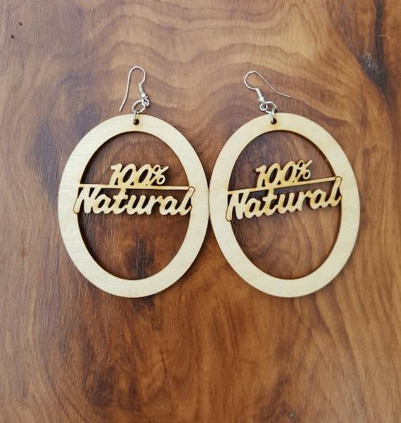 100% Natural Wooden Earrings