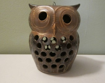 Vintage Owl Candleholder by OMC of Japan