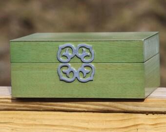 Green & Silver Jewelry Box