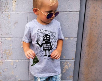 Math Rules Everything Around Me Girls Boys Gender Neutral Robot Baby Kids T Shirt Short Sleeve Gift