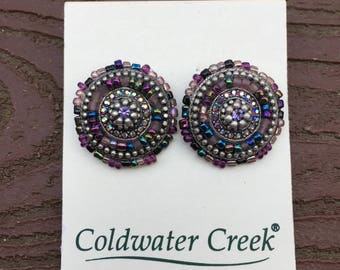 Vintage Jewelry Coldwater Creek Pierced Earrings Gorgeous Colors New