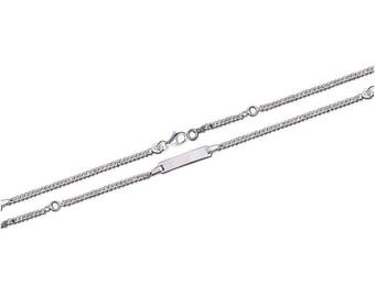 Silver curb chain Bracelet for baby with name 15238205 15 cm