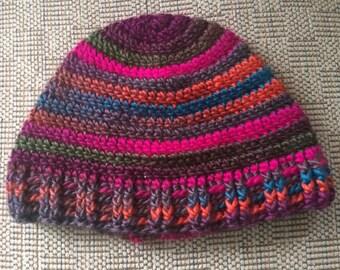 Adult Winter Hat, Teen hat, Adult Hat, Multicolored hat, winter Accessory, striped Hat, Winter Hats, Crochet Hat, Colorful Hat, Striped hat