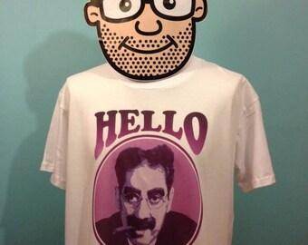 Groucho Marx T-Shirt (Hello I Must Be Going) - White Shirt