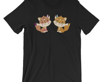 Cute Tribal Pattern Fox T-shirt Animal & Nature Lover Tee