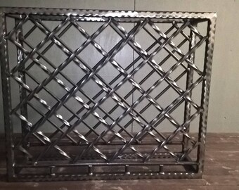 Handmade Ornate Steel Wine Rack