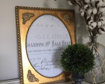 Vintage Picture Frame, Gold Frame, French Frame, Ornate Picture Frame, Gallery Wall, Cottage Accessories, Farmhouse Decor, Country #046